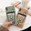 Tapioca brown green iphone case
