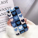 Blue heart iphone case