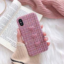 Pink heart button iphone case