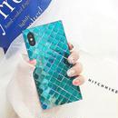 Aqua square iphone case