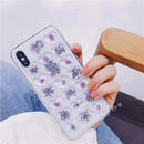 Flower purple heart iphone case