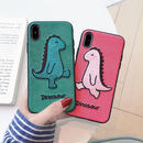 Dinosaur green red iphone case