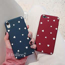 White heart red blue iphone case