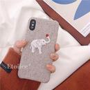 Elephant fabric iphone case