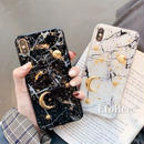Moon star marble iphone case