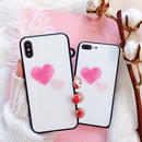 Pink double heart iphone case