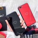 Heart line BLACK side iphone case