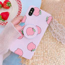 Pink peach with stand iphone case