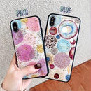 Watercolor glitter iphone case