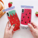 Strawberry watermelon quicksand iphone case