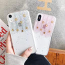 Star pink silver iphone case