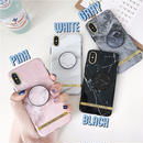Chic marble with stand iphone case