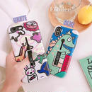 Cartoon black band iphone case