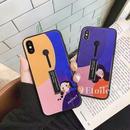 Girl black band iphone case