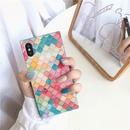Rainbow block square iphone case