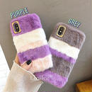 Purple fur iphone case