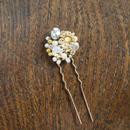 ヴィンテージRawbrass flower・ヘアーアクセサリー