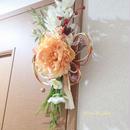お正月飾り☆京都西陣織(芍薬/ピーチ色)水引しめ飾り 新年 お正月