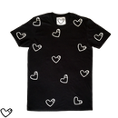 COCKHEART (ALL OVER PRINT)  Tシャツ/ブラック