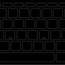 ブラックアウトステッカーfor US Mac 16mm
