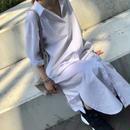 ロングシャツワンピース white