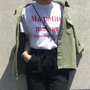 【予約】赤ロゴTシャツ(White)