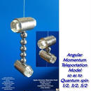Angular  Momentum  Teleportation  Model, so as to  Quantum spin  1/2, 3/2, 5/2