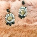 antique black earrings