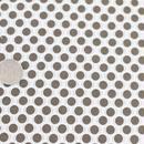 変形ドット 白地×ブラウンドット 50cm