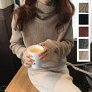 ゆったりとしたフィット感と薄でアイテムで春まで使えるセーター 0055