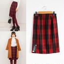 秋冬カラーのギンガムチェックがかわいいタイトスカート