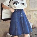 フンワリシルエットがガーリーで可愛いデニムスカート 0083