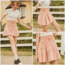 ミニスカート プリーツスカート ピンク フレアスカート 0706