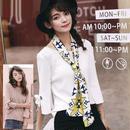 【Fcstyle】【送料無料】袖のリボンが可愛いセーター ホワイト ピンク 韓国ブランド風 韓国ファッション ガーリー フェミニン