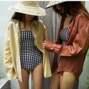 gingham Swimwear