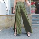 linen slit pants