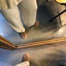 lamé rib knit pants