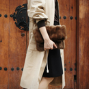 2way mink fur bag