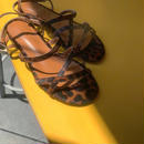 real leopard sandal