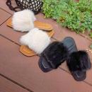 realmink fur sandal