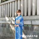 0208 美品☆夏着物(薄物) 小紋 化繊
