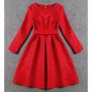 華やかなカラーのふんわりスカート フレアワンピース