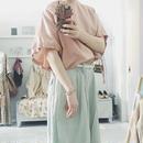 Dahlia  お袖リボン blouse