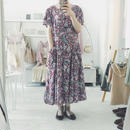 used 花柄 ワンピース burgundy