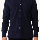 (Pleasant)NAVY CORDUROY L/S SHIRT