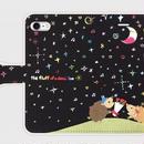 スマホケース(手帳タイプ)夜空の下きらきらケース