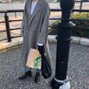 linen blend glen check coat