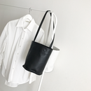 real leather bucket  bag(2color)