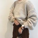crew neck rowgauge knit