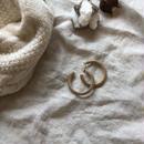 natural wood hoop pierce